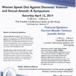 SymposiumWomenSpeakOutAgainstDomesticViolenceSexualAssault